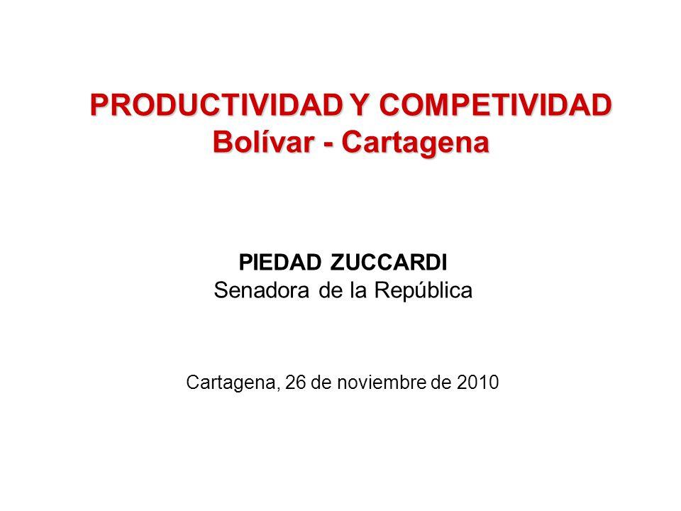 PRODUCTIVIDAD Y COMPETIVIDAD Bolívar - Cartagena