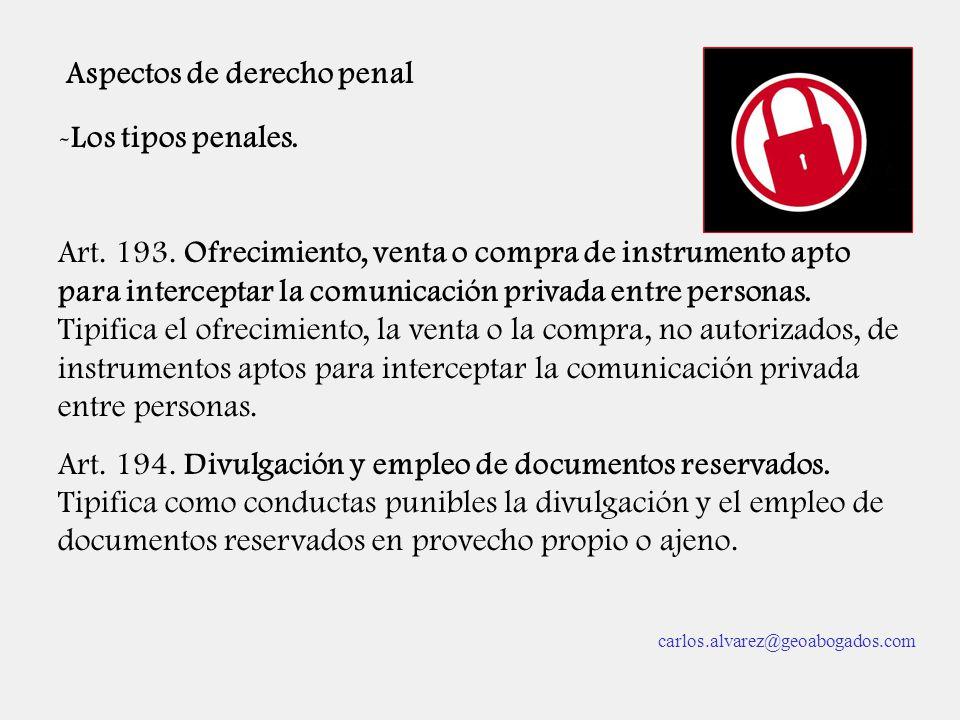 Aspectos de derecho penal
