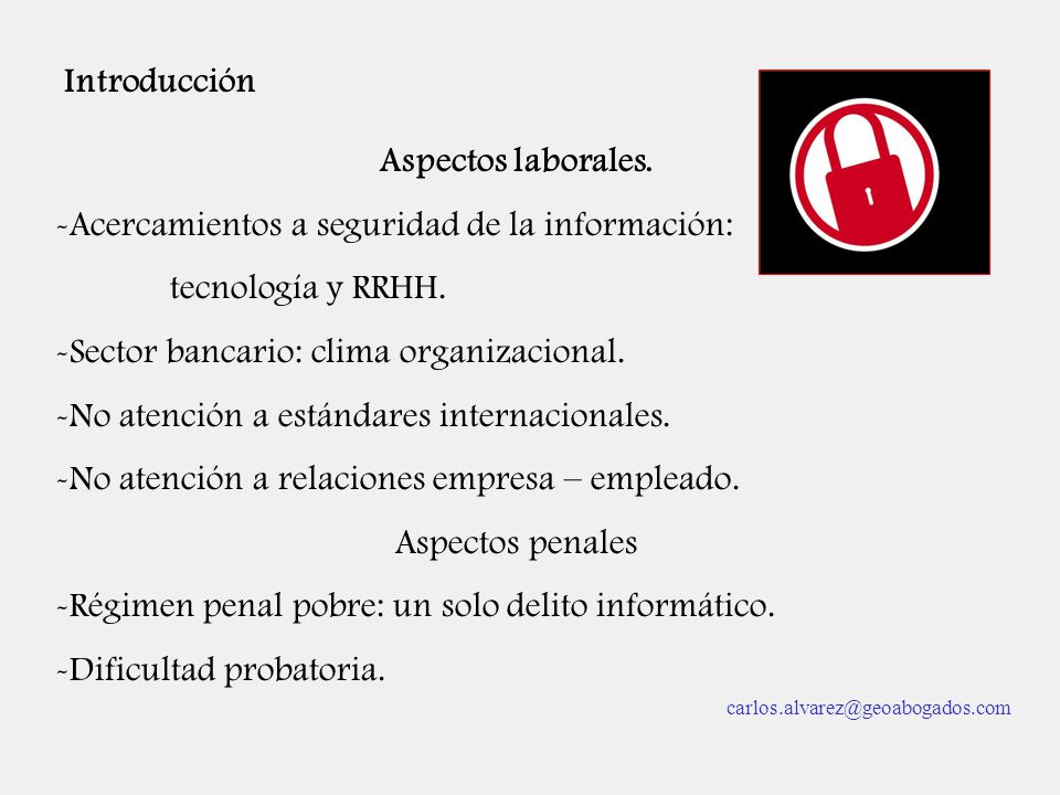 Acercamientos a seguridad de la información: tecnología y RRHH.