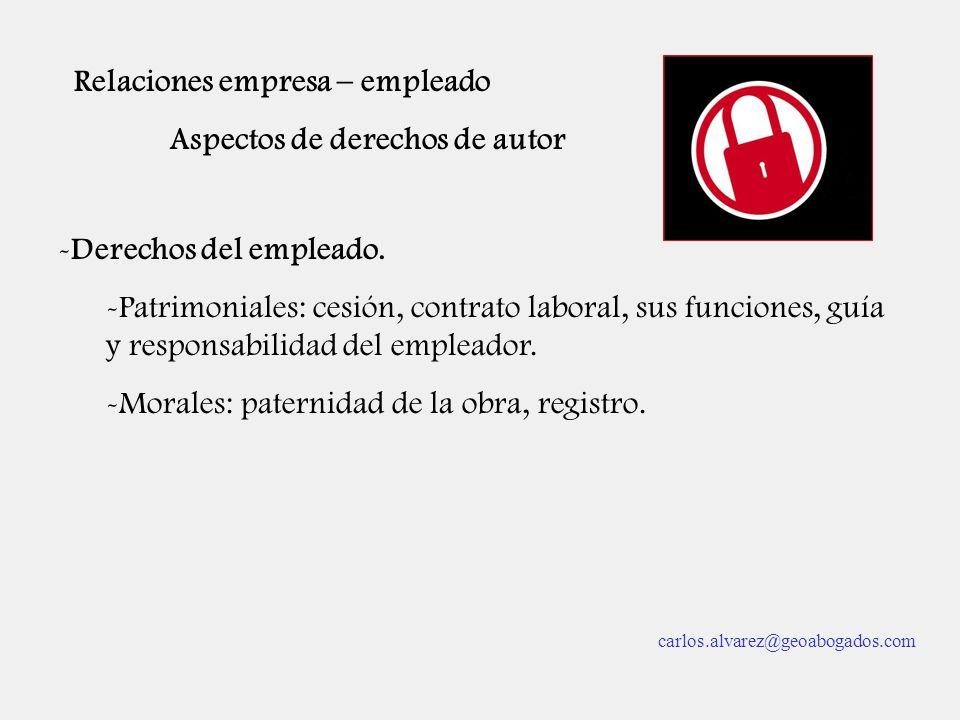 Relaciones empresa – empleado Aspectos de derechos de autor
