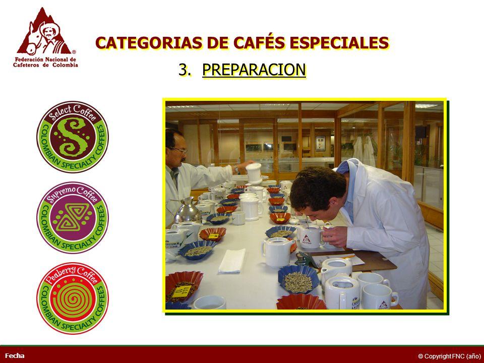 CATEGORIAS DE CAFÉS ESPECIALES 3. PREPARACION