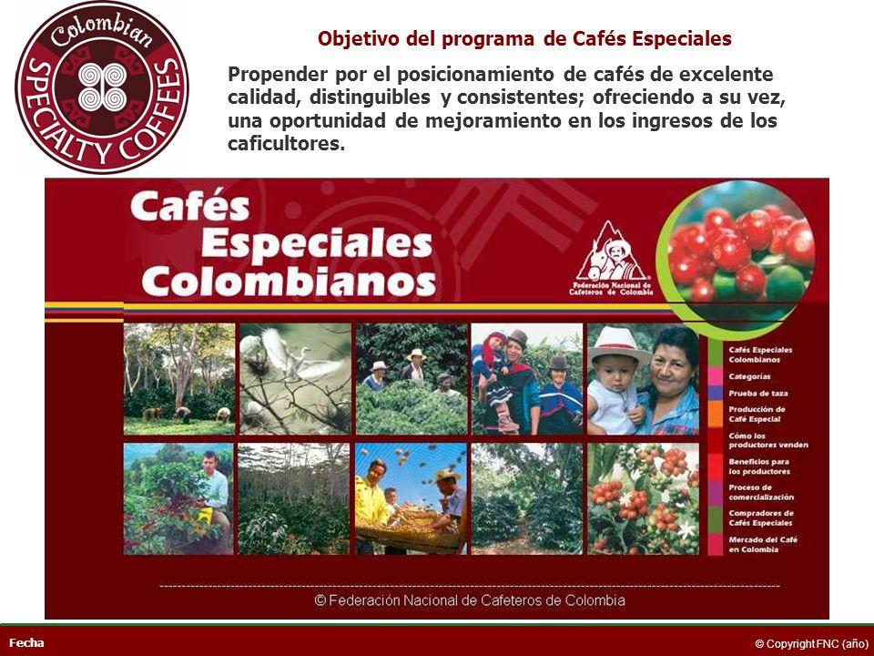 Objetivo del programa de Cafés Especiales