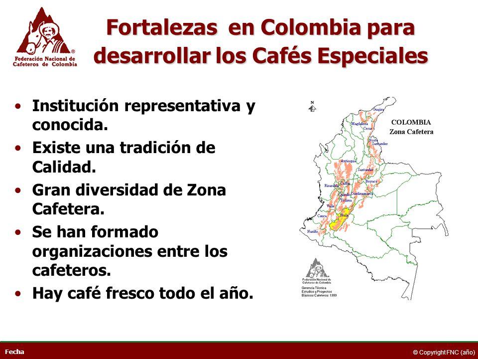 Fortalezas en Colombia para desarrollar los Cafés Especiales