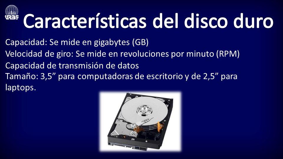 Características del disco duro