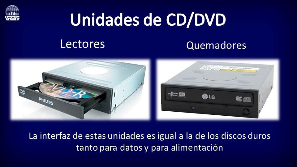 Unidades de CD/DVD Lectores Quemadores