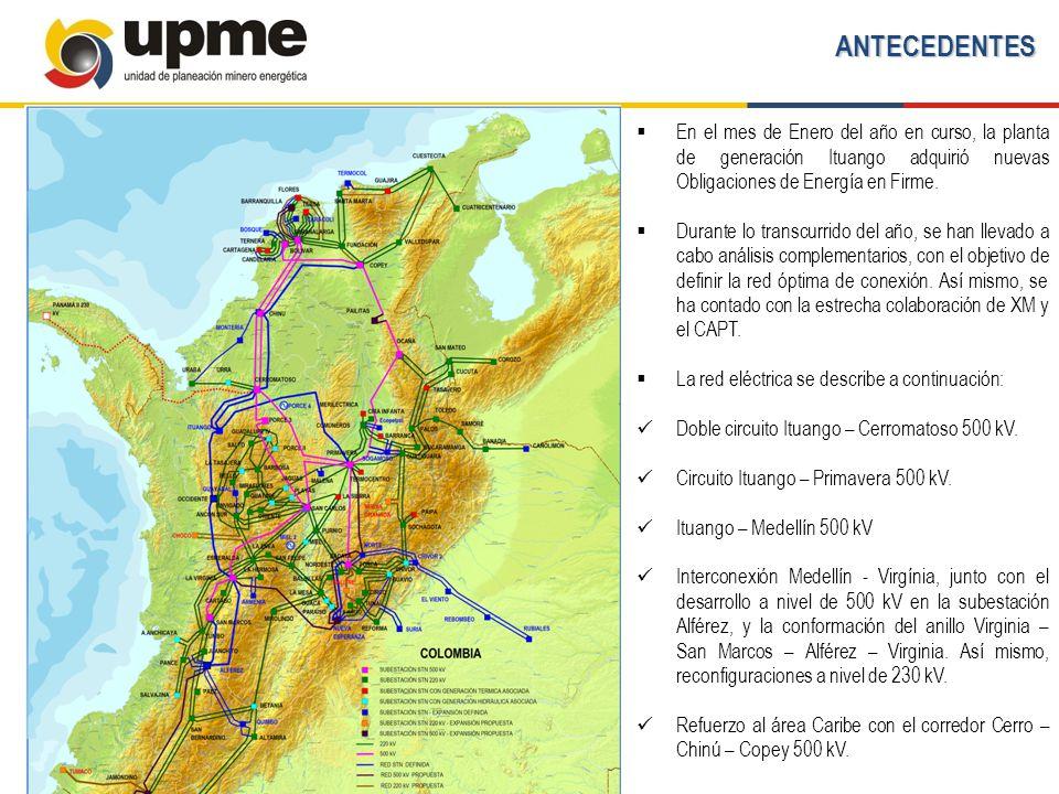 ANTECEDENTES En el mes de Enero del año en curso, la planta de generación Ituango adquirió nuevas Obligaciones de Energía en Firme.