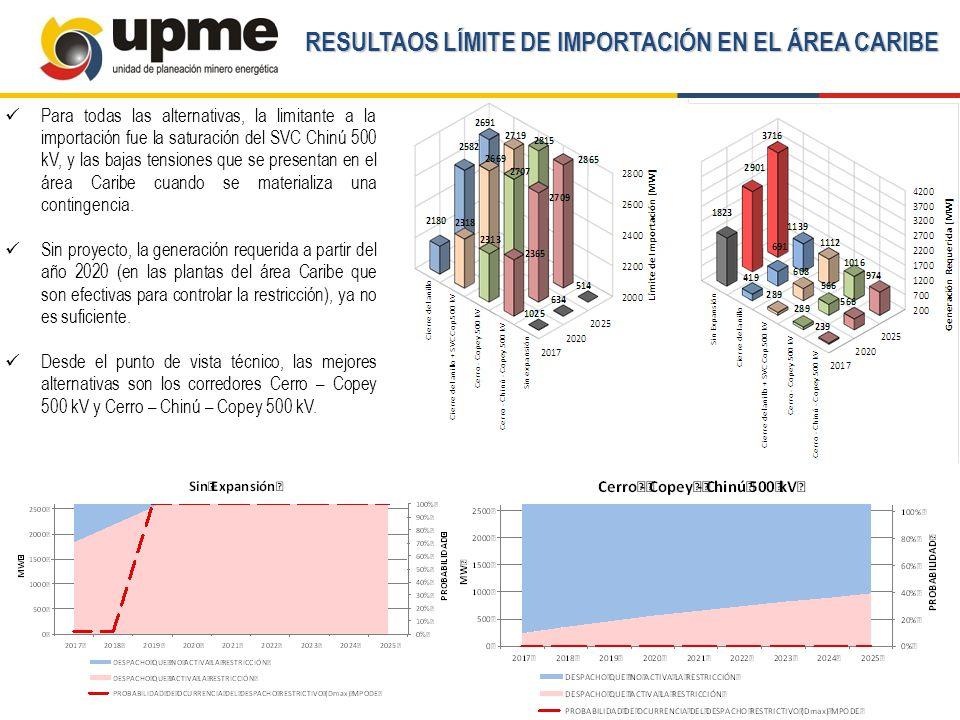 RESULTAOS LÍMITE DE IMPORTACIÓN EN EL ÁREA CARIBE