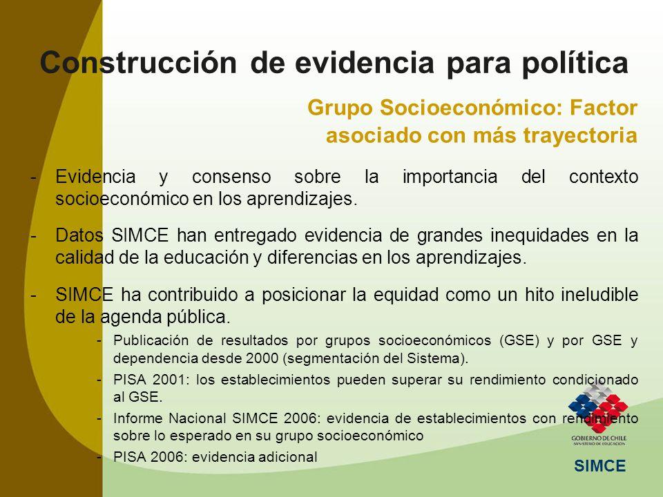 Construcción de evidencia para política
