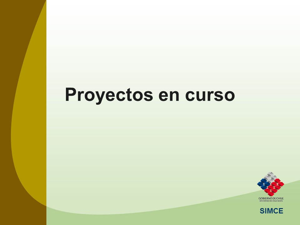 Proyectos en curso SIMCE