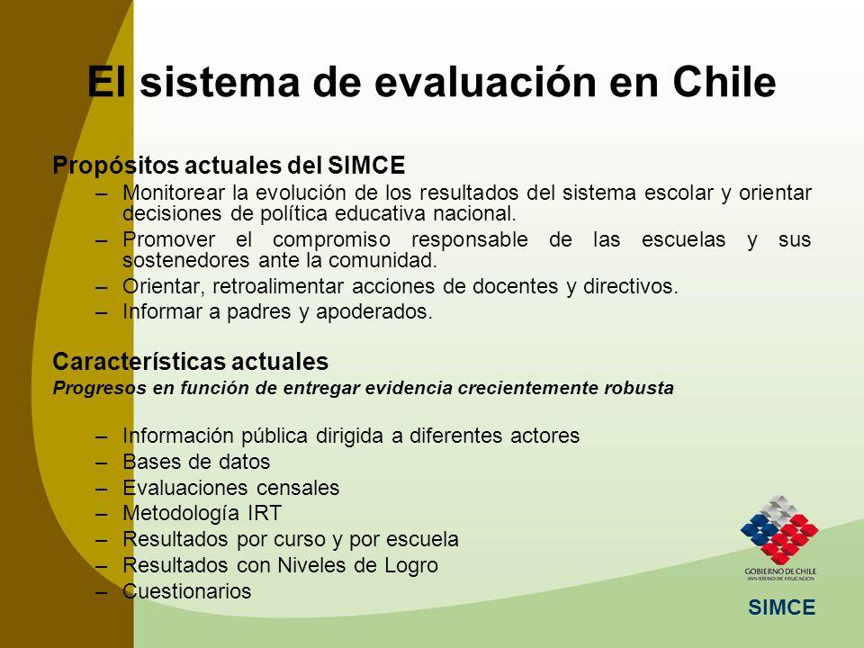El sistema de evaluación en Chile