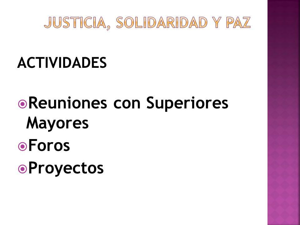 JUSTICIA, SOLIDARIDAD Y PAZ