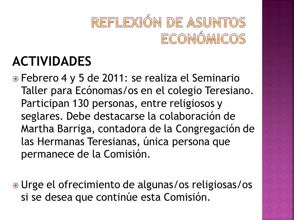 REFLEXIÓN DE ASUNTOS ECONÓMICOS