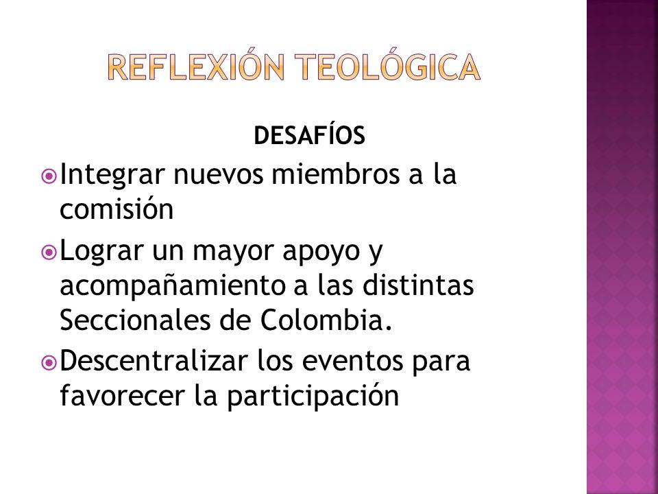 REFLEXIÓN TEOLÓGICA Integrar nuevos miembros a la comisión