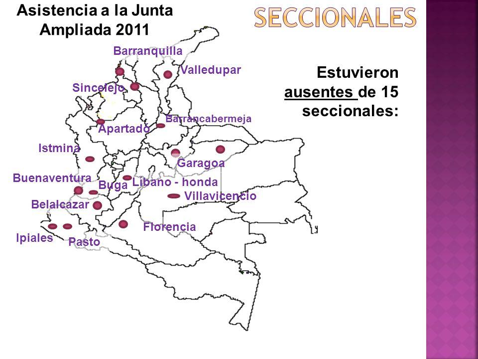 Asistencia a la Junta Ampliada 2011