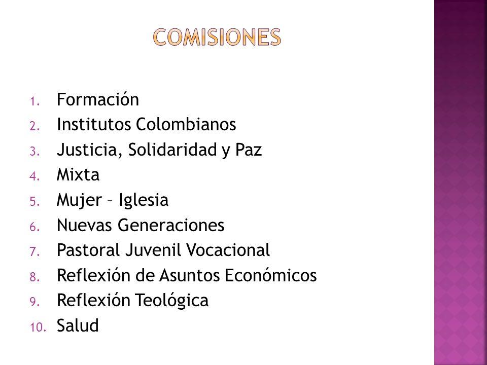 Comisiones Formación Institutos Colombianos