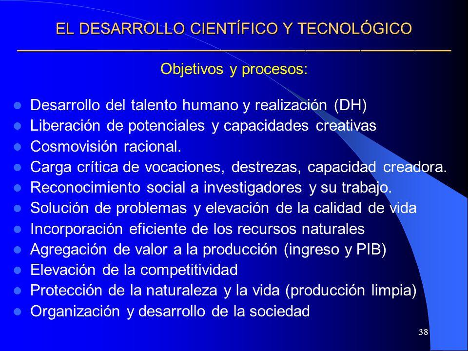 EL DESARROLLO CIENTÍFICO Y TECNOLÓGICO ————————————————————————