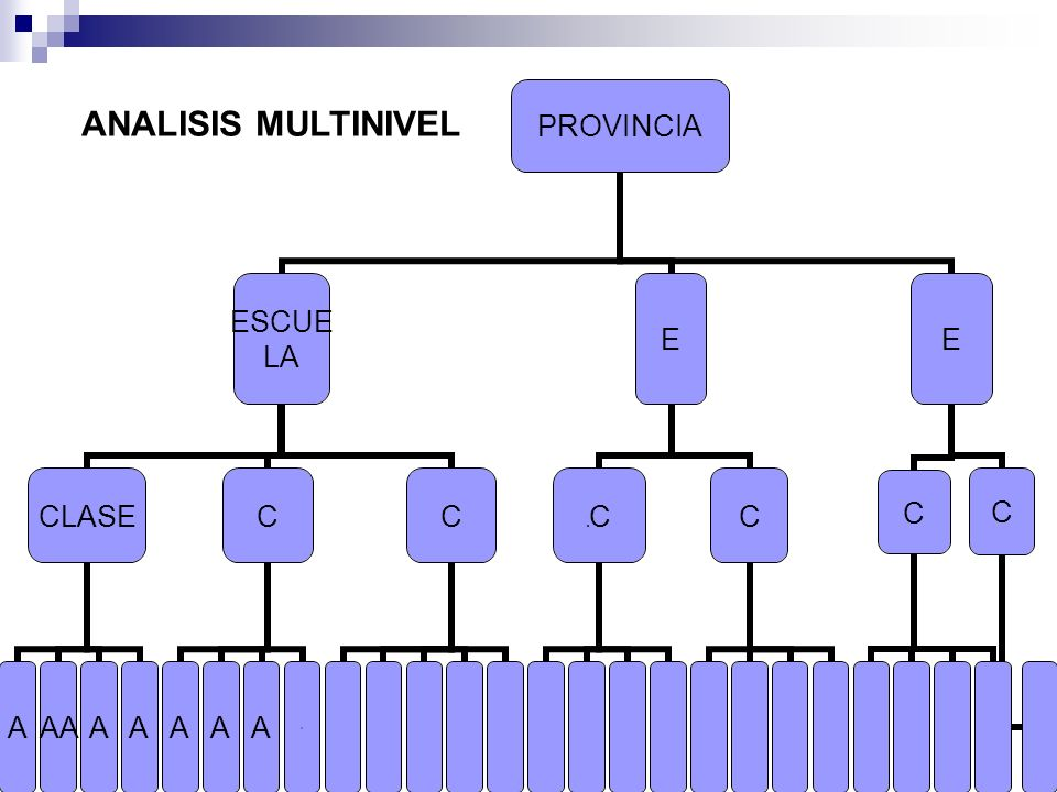 ANALISIS MULTINIVEL