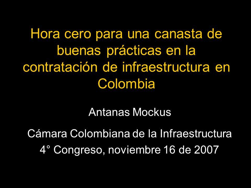 Hora cero para una canasta de buenas prácticas en la contratación de infraestructura en Colombia