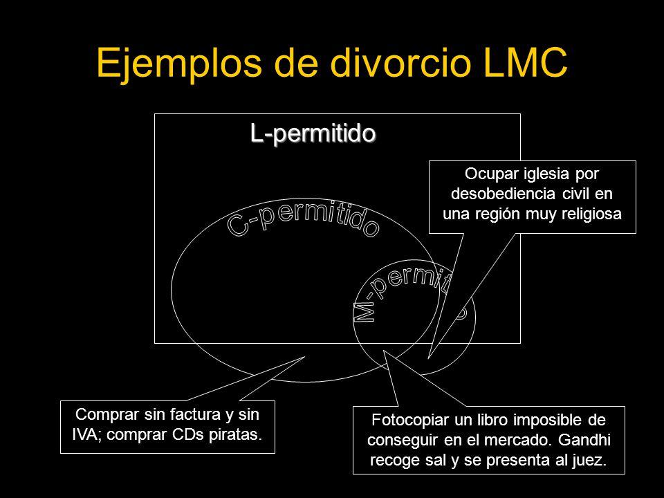 Ejemplos de divorcio LMC