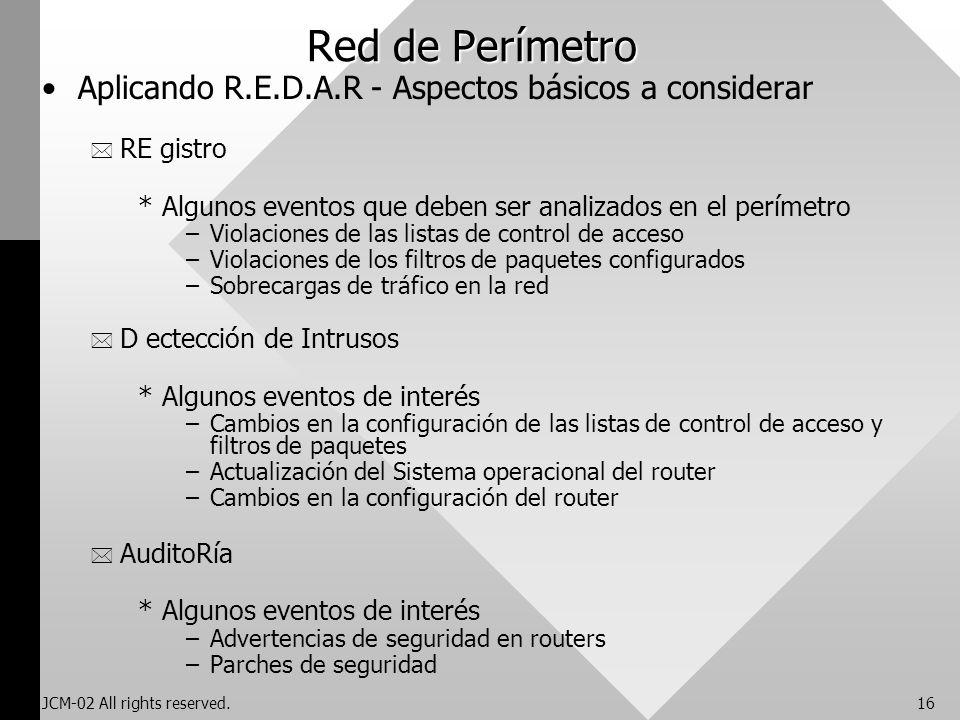Red de Perímetro Aplicando R.E.D.A.R - Aspectos básicos a considerar