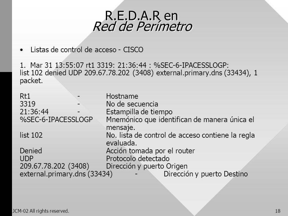 R.E.D.A.R en Red de Perímetro