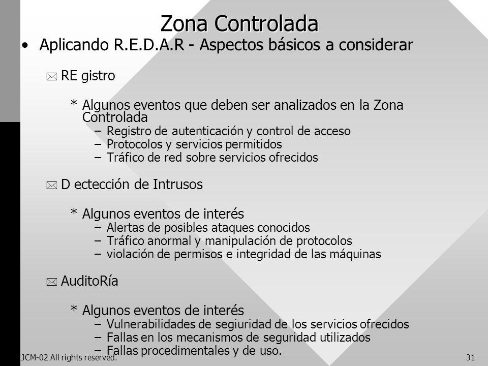 Zona Controlada Aplicando R.E.D.A.R - Aspectos básicos a considerar