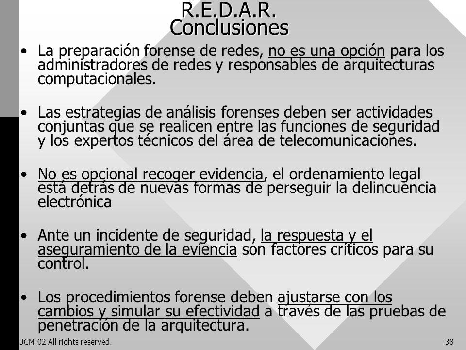R.E.D.A.R. Conclusiones