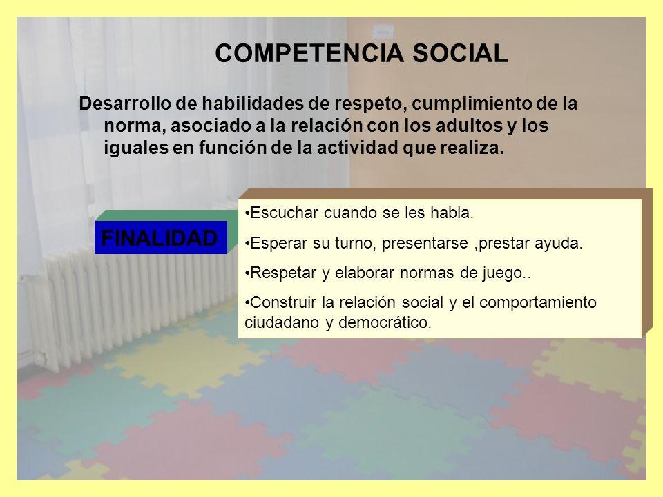 COMPETENCIA SOCIAL FINALIDAD