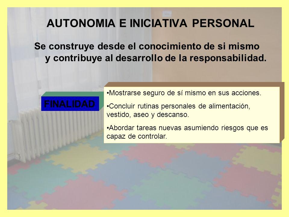 AUTONOMIA E INICIATIVA PERSONAL