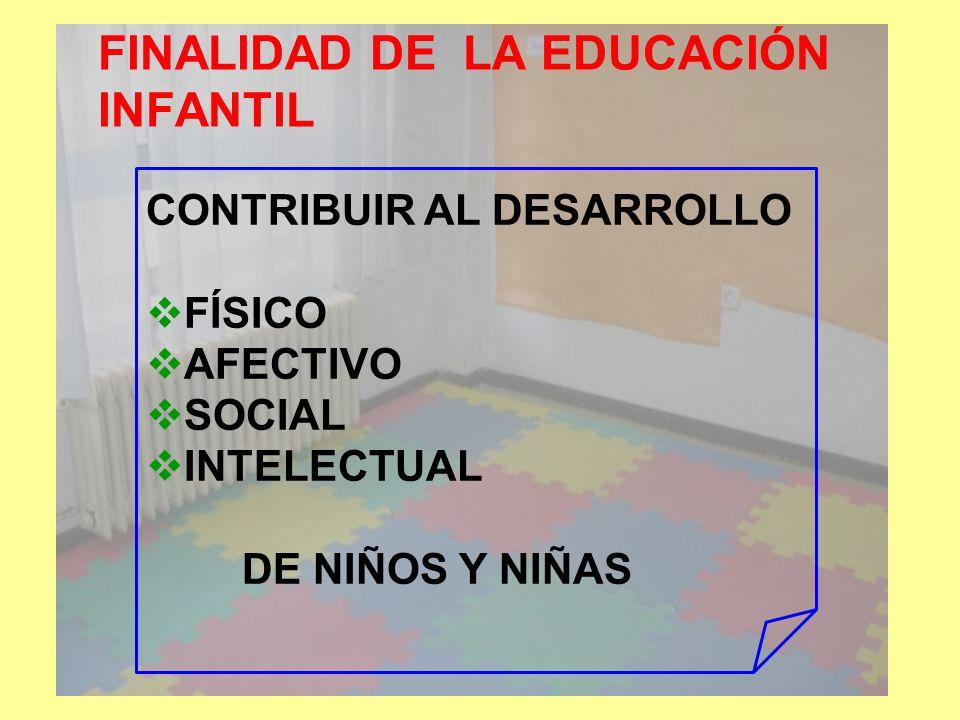 FINALIDAD DE LA EDUCACIÓN INFANTIL