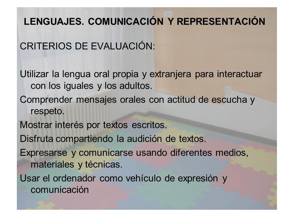 LENGUAJES. COMUNICACIÓN Y REPRESENTACIÓN