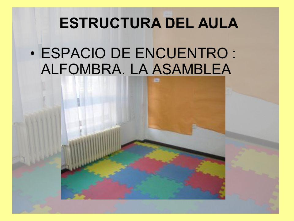 ESTRUCTURA DEL AULA ESPACIO DE ENCUENTRO : ALFOMBRA. LA ASAMBLEA
