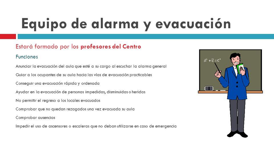 Equipo de alarma y evacuación