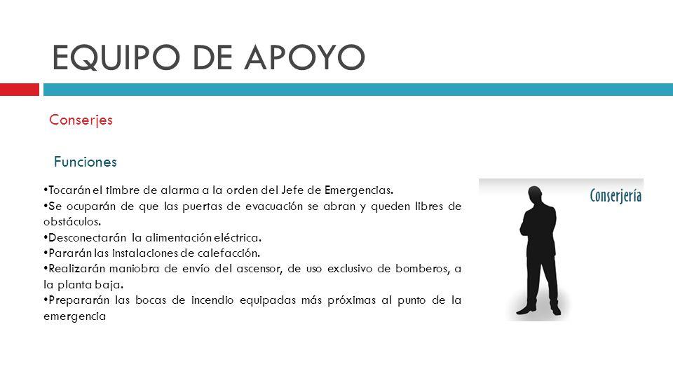 EQUIPO DE APOYO Conserjes Funciones