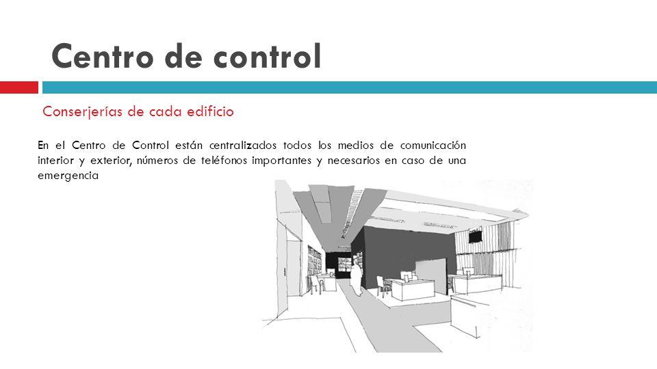 Centro de control Conserjerías de cada edificio