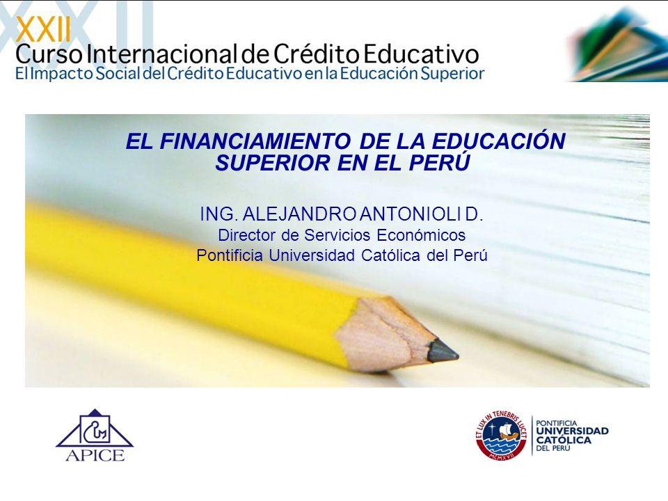EL FINANCIAMIENTO DE LA EDUCACIÓN SUPERIOR EN EL PERÚ