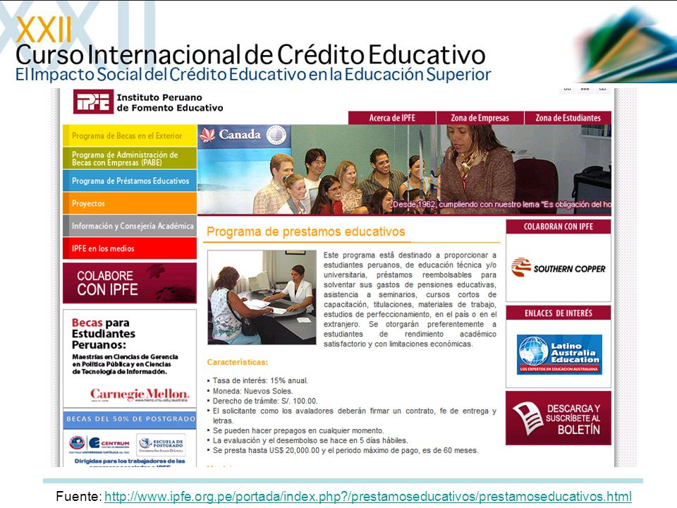 Fuente: http://www. ipfe. org. pe/portada/index. php