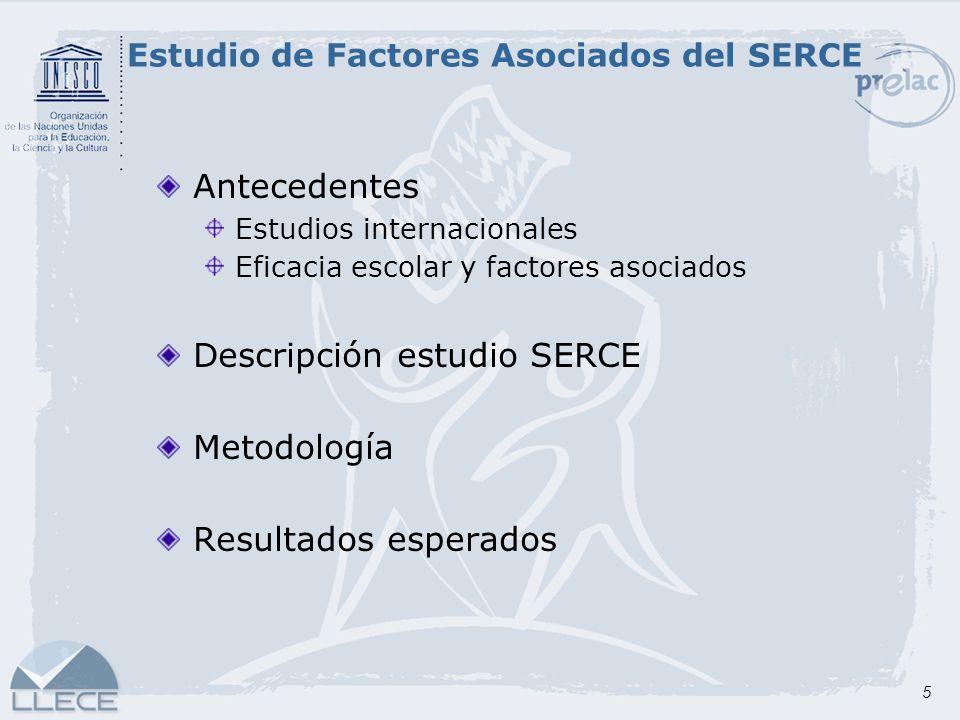 Estudio de Factores Asociados del SERCE
