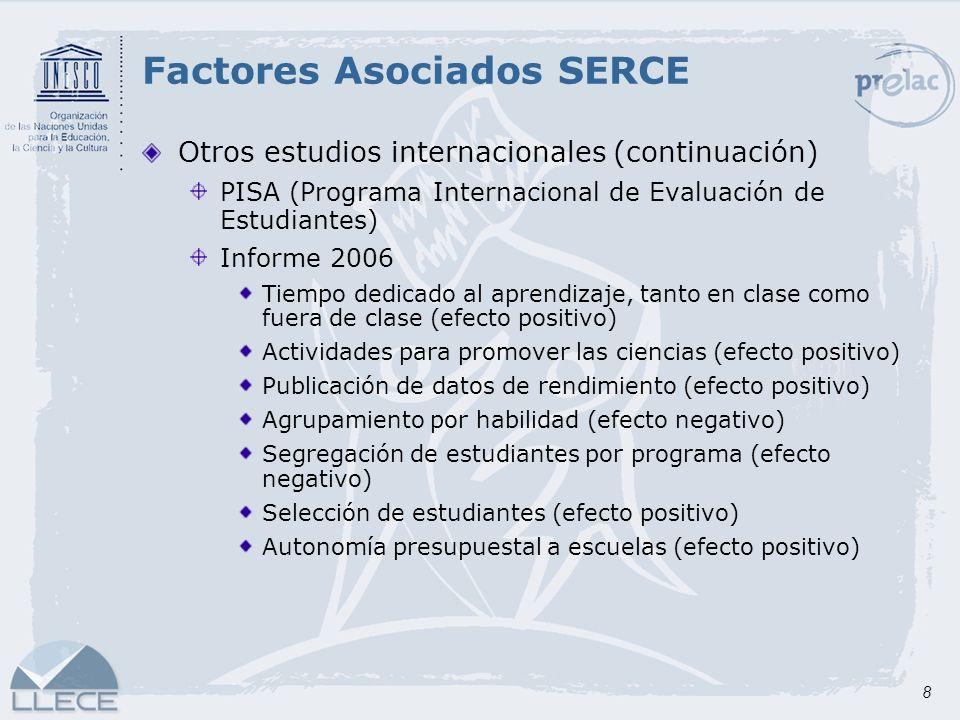 Factores Asociados SERCE