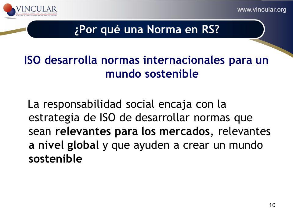 ISO desarrolla normas internacionales para un mundo sostenible