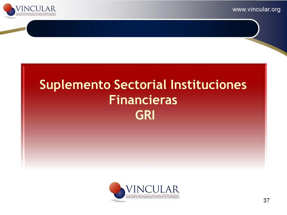 Suplemento Sectorial Instituciones Financieras GRI