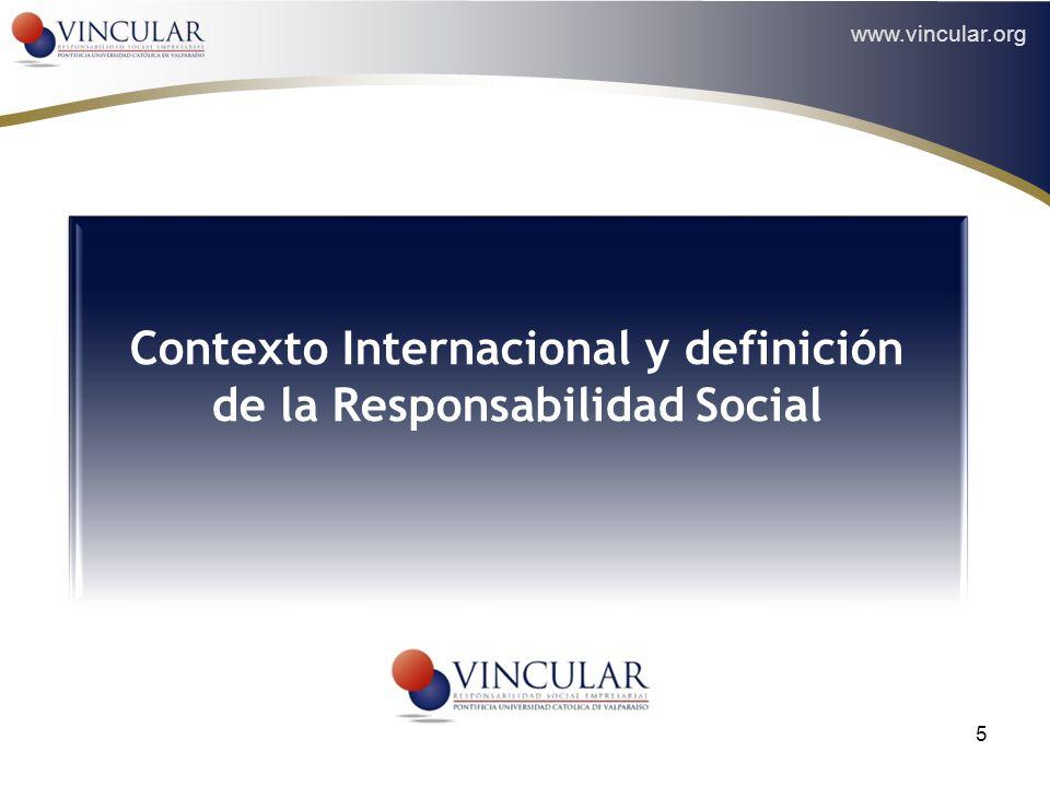 Contexto Internacional y definición de la Responsabilidad Social
