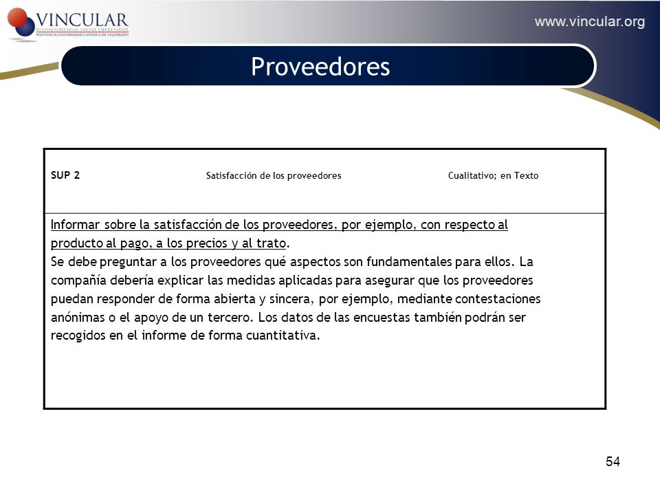 DESEMPEÑO DE LOS PROVEEDORES