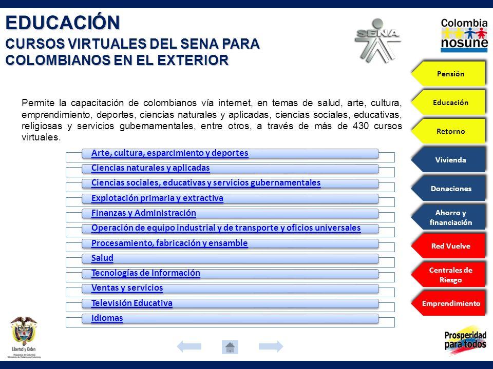EDUCACIÓN CURSOS VIRTUALES DEL SENA PARA COLOMBIANOS EN EL EXTERIOR