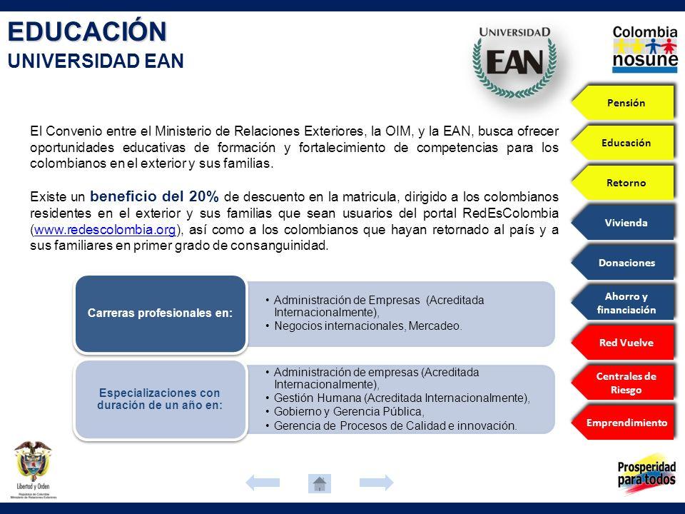 EDUCACIÓN UNIVERSIDAD EAN