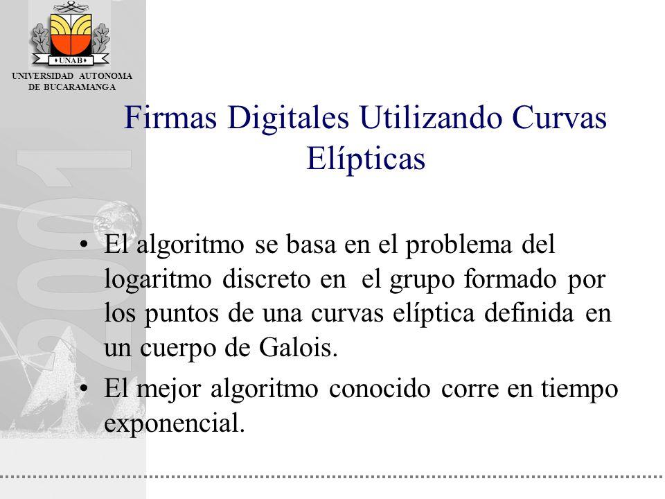 Firmas Digitales Utilizando Curvas Elípticas