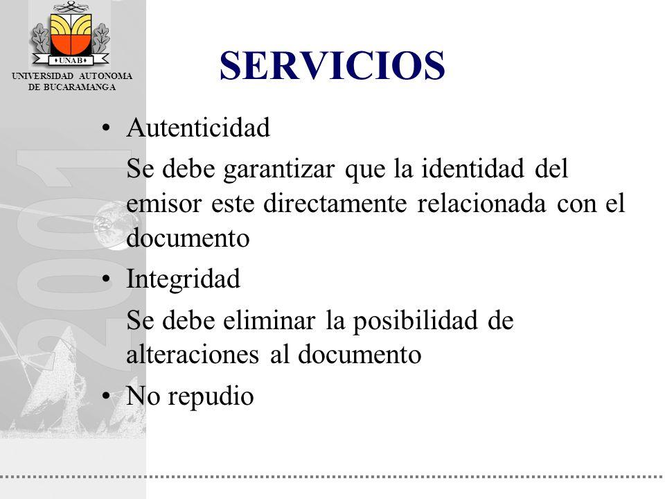 SERVICIOS Autenticidad