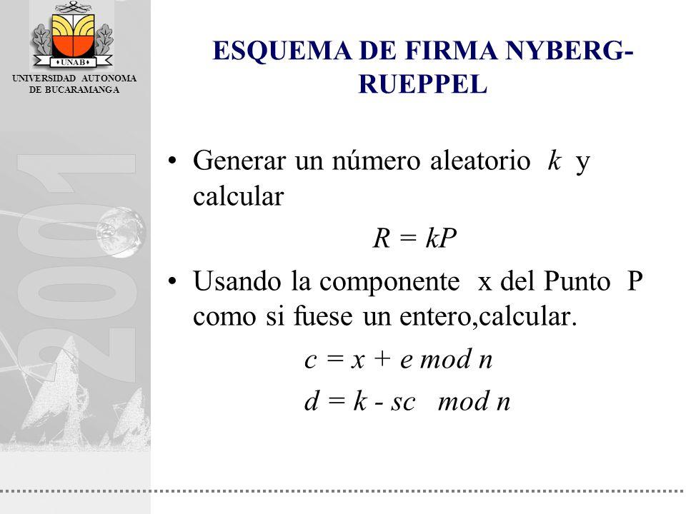 ESQUEMA DE FIRMA NYBERG-RUEPPEL