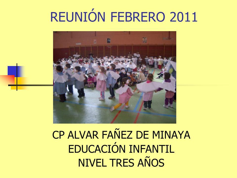 CP ALVAR FAÑEZ DE MINAYA EDUCACIÓN INFANTIL NIVEL TRES AÑOS