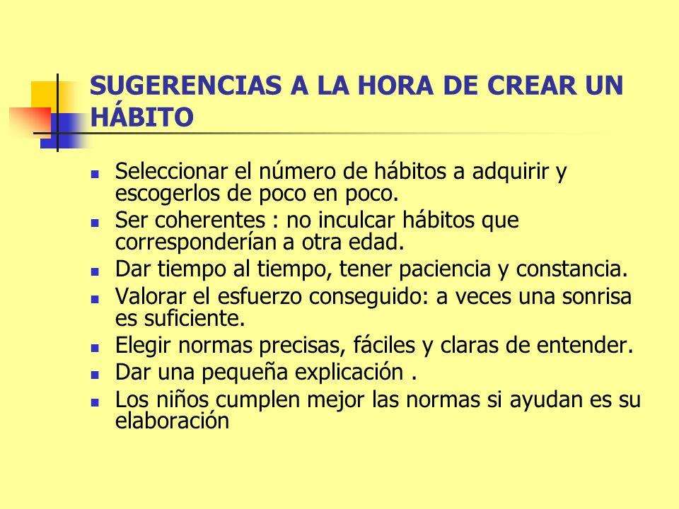 SUGERENCIAS A LA HORA DE CREAR UN HÁBITO